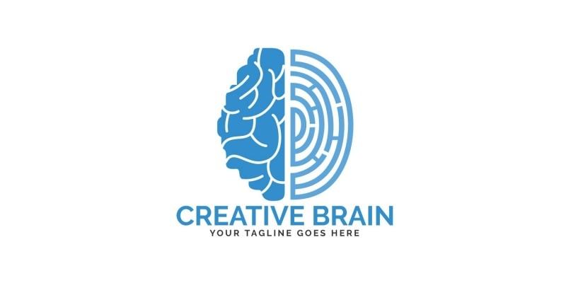 Brain and Fingerprint Logo Design