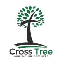 Cross tree logo Design
