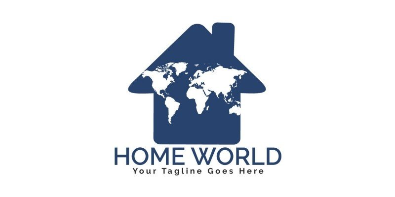 Home World Logo Design