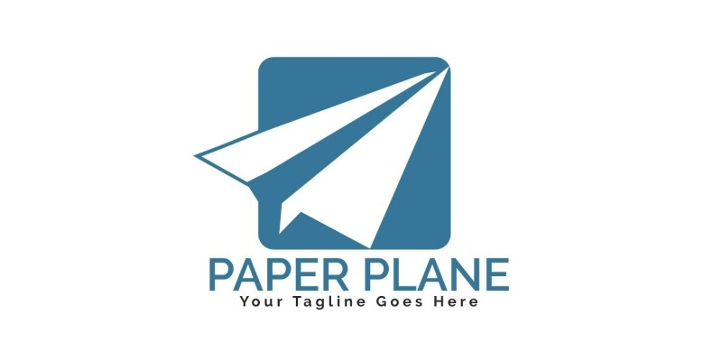 Paper Plane Logo Design.