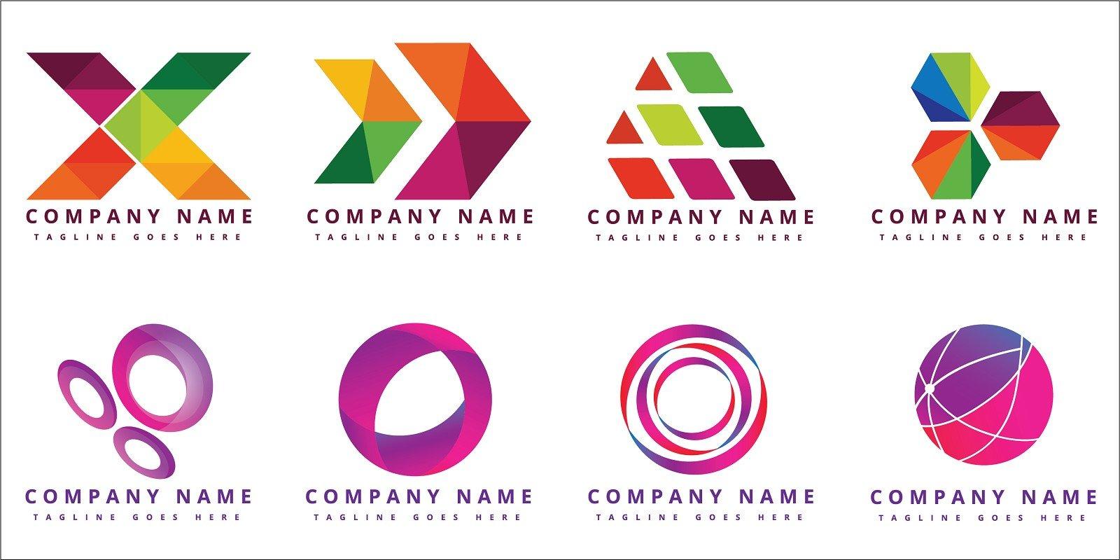 16 Beautiful Colorful Vector Logo Design Templates