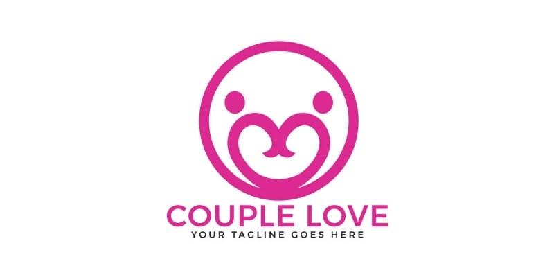 Couple Love Vector Logo Design