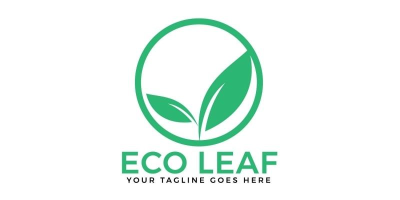 Eco Leaf Vector Logo Design