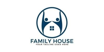 Family House Vector Logo Design