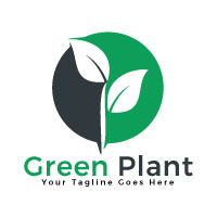 Green Plant Vector Logo Design