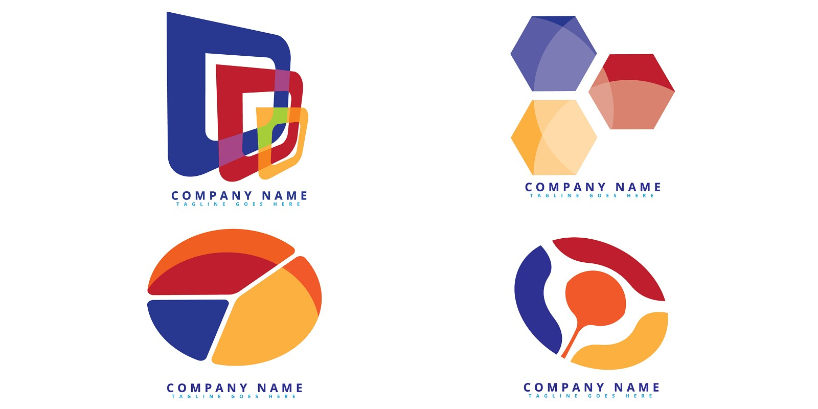 Abstract Colorful Logo Template In Modern Style