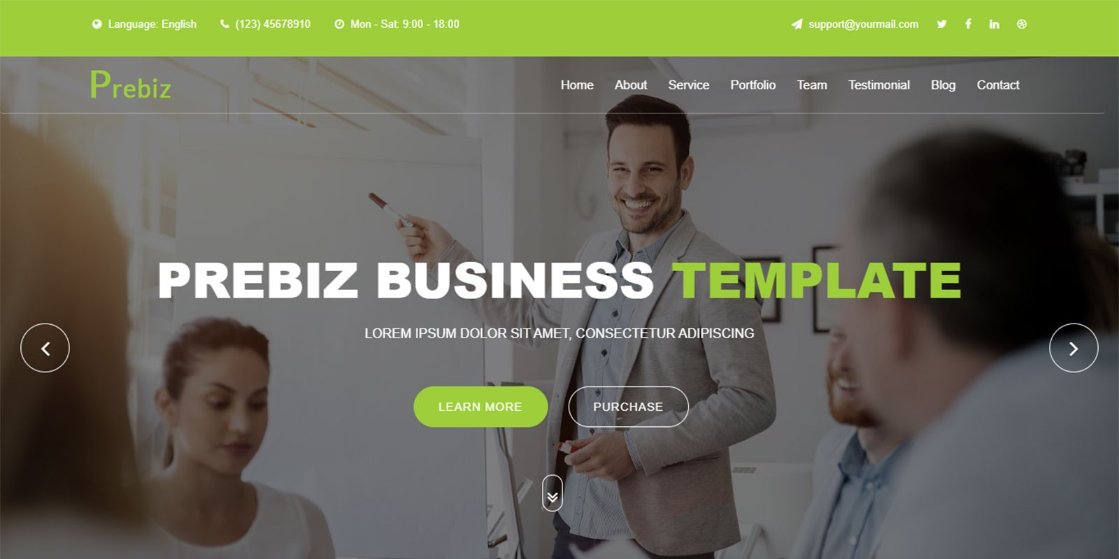 Prebiz - Digital Corporate Business Template