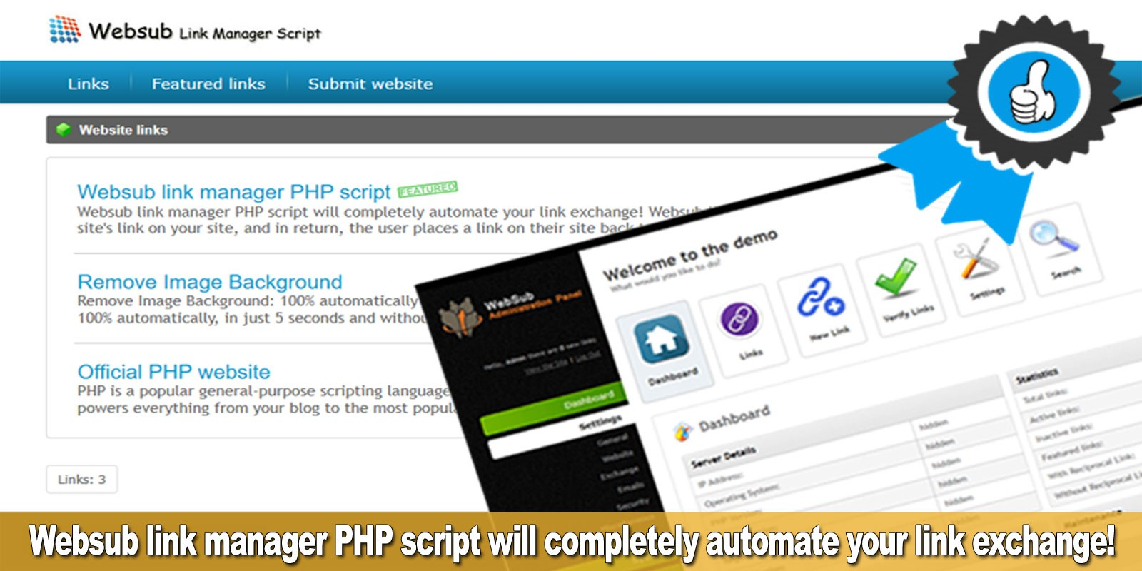 Websub Link Manager - PHP Script