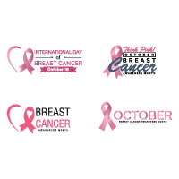 Breast Cancer October Awareness Month Logo