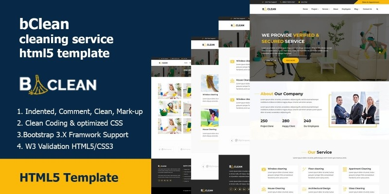 bClean - Cleaning Service HTML5 Template