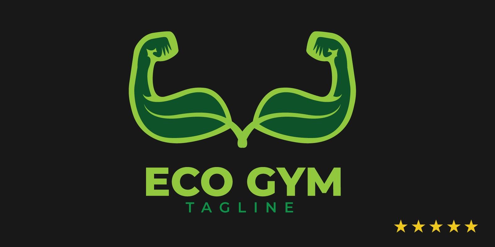 Eco Gym Logo Template