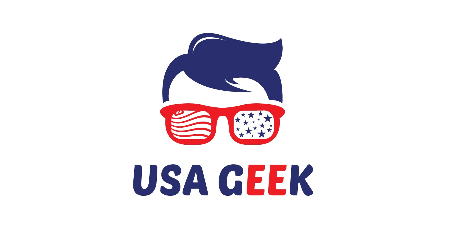 USA Geek Logo Template