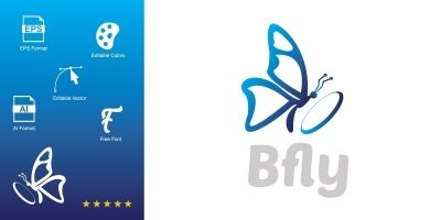 Bfly Logo Template