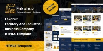 Fakobuz - Facktory And Industrial HTML5 Template