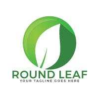 Round Leaf Logo Design