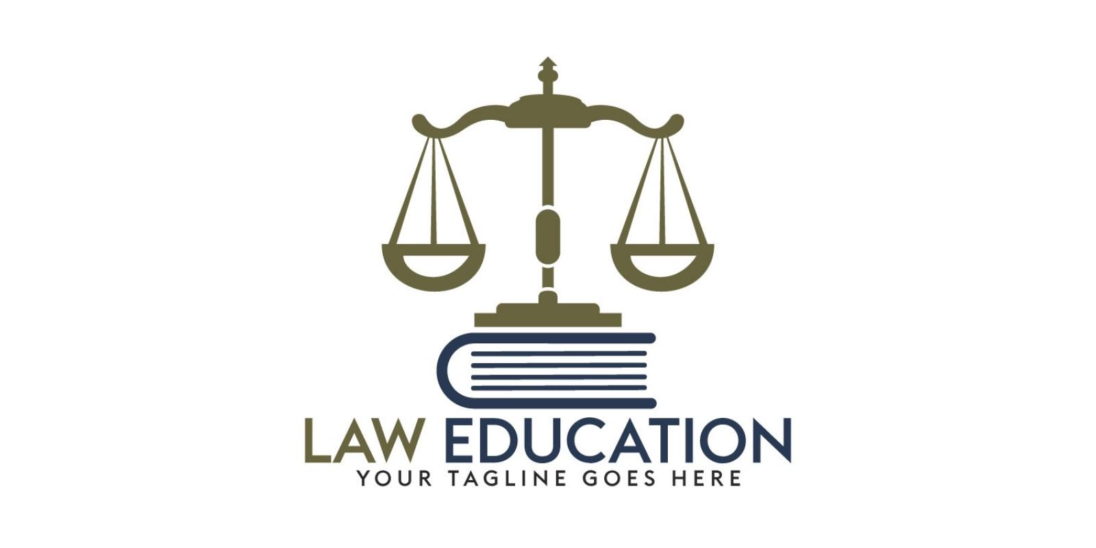 Law Education Logo Design