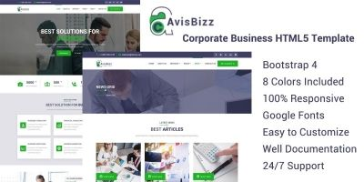 AvisBizz - HTML Template