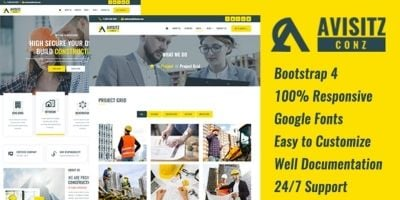 AvisitzConz - Construction HTML5 Template