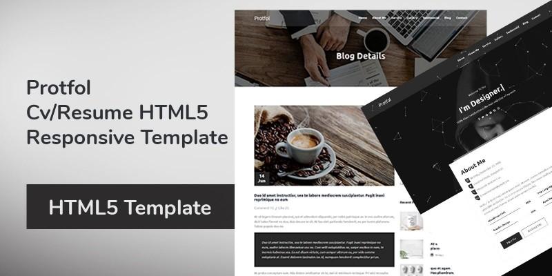 Protfol - CV Resume HTML5 Responsive Template