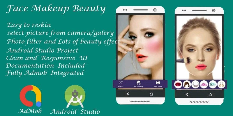 Face Beauty Makeup - Android Studio Source Code