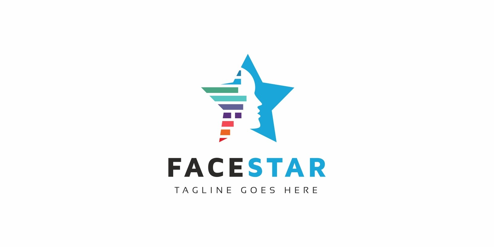 Tecnology face logo
