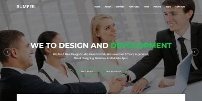 Bumper - Material Design Agency Template