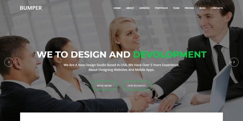 Bumper - Material Design Agency Template