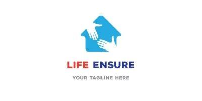 Hands In House Shape Logo Design