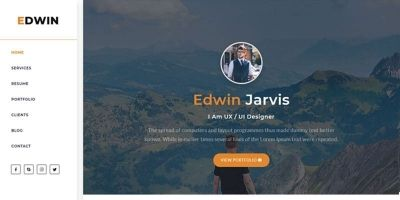 Edwin - HTML Portfolio Template