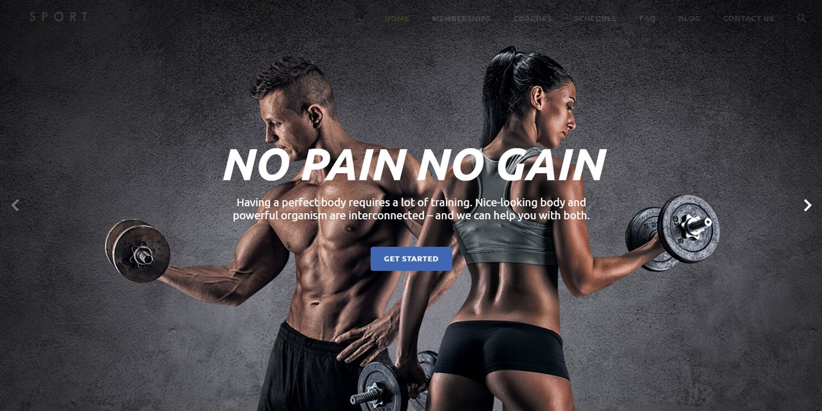 Universal HTML Template For Fitness