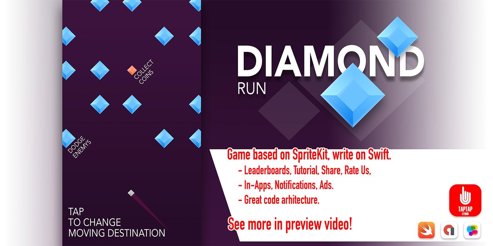 Diamond Run - iOS Source Code