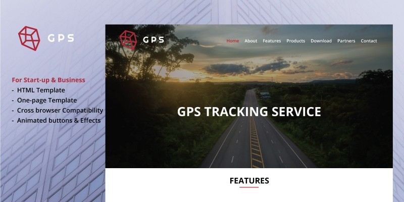 GPS - Bootstrap HTML5 One-Page Template