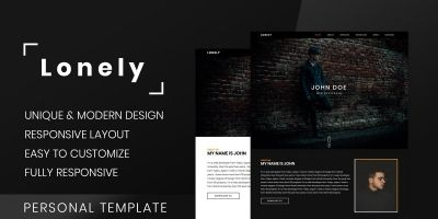 Lonely - Personal  Resume And Portfolio Template