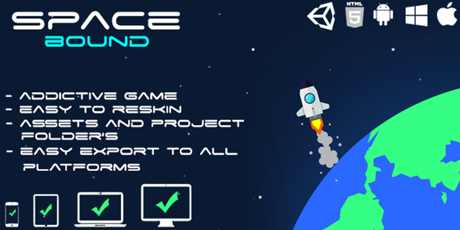 Space Bound - Unity Project And Assets