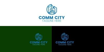 Real Estate City Logo Design Template
