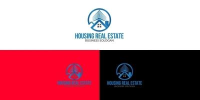 Housing Real Estate Logo Design Template