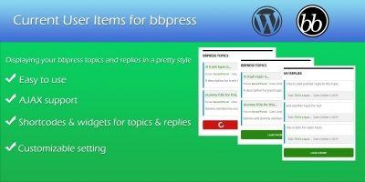 Current User Items - bbPress Plugin