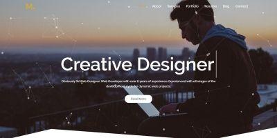 Mira - Creative Resume Portfolio HTML5 Template