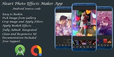 Heart Photo Effects Maker App- Android Studio Code