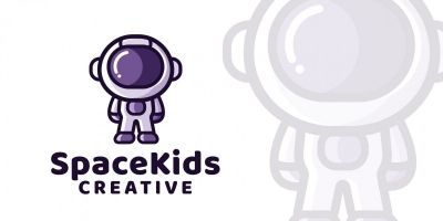 Space Kids - Logo Template