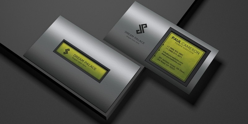 High-End Steel Business Card