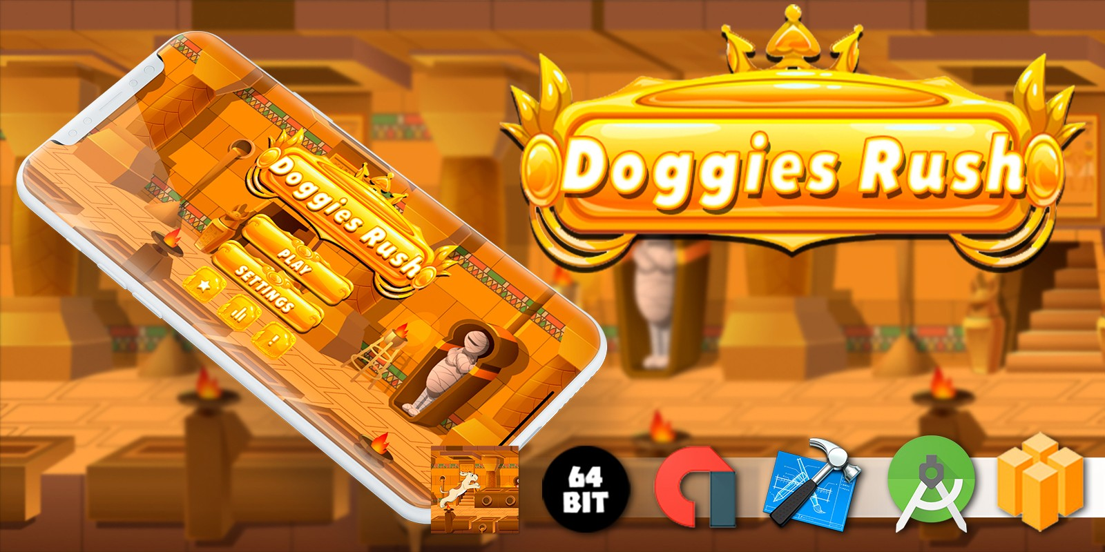 Doggies Rush - Buildbox Template