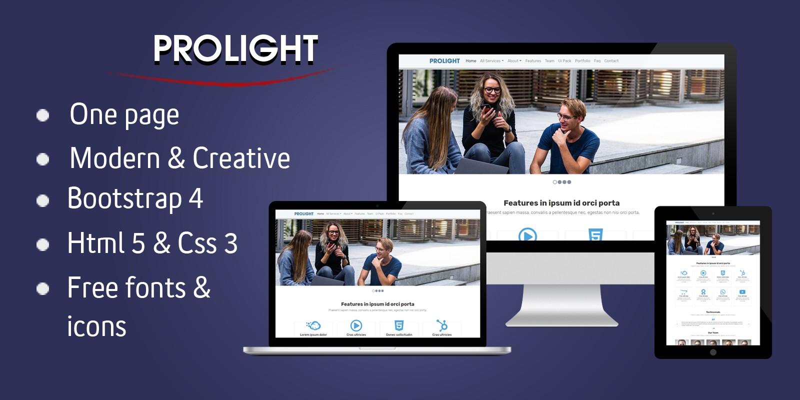 Prolight - Creative App Landing Page
