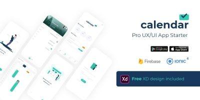 Calendar Pro UX UI App Firebase Starter - Ionic 4