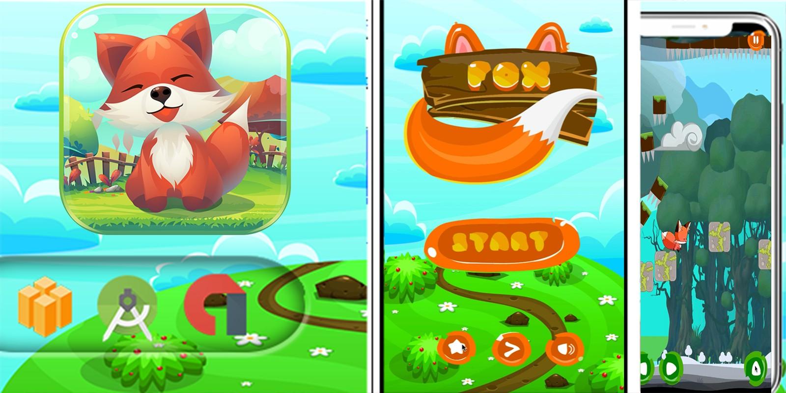 Super Lucky Fox Adventure Game - Template Buildbox