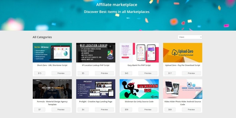AM Affiliate Marketplace PHP Script