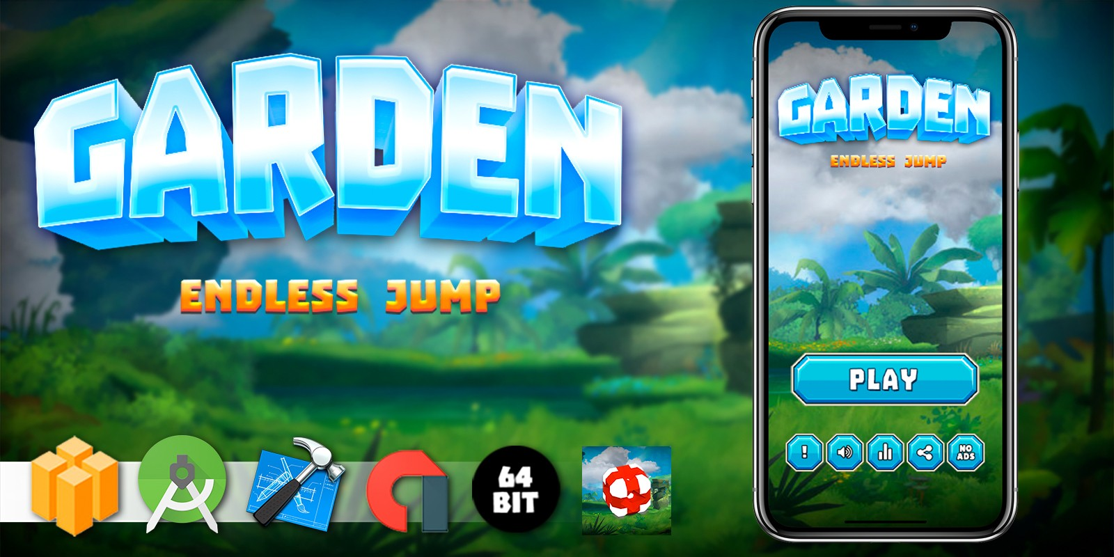 Garden Jump - Buildbox Template