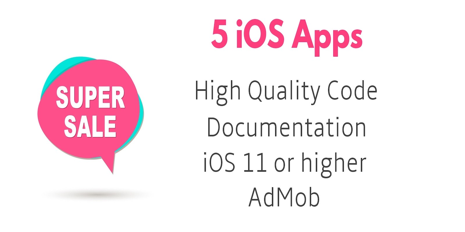 5 iOS App Source Code Bundle