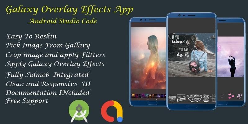 Galaxy Overlay Photo - Android Studio Code