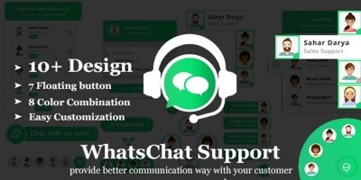 WhatsChat - WhatsApp Chat Widget PHP Plugin